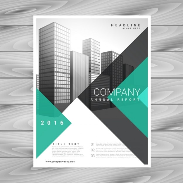 Modern company brochure with geometric shapes