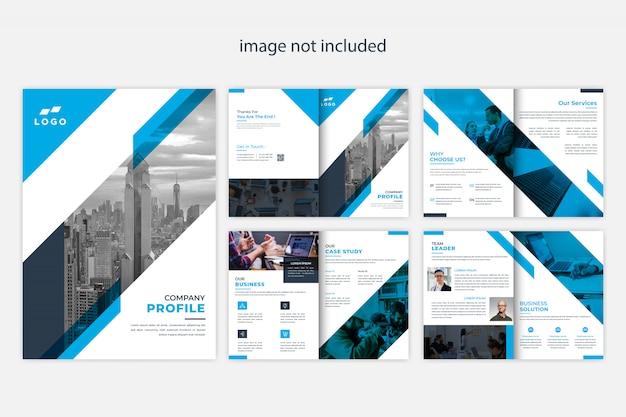 Modern company profile brochure design template Premium Vector