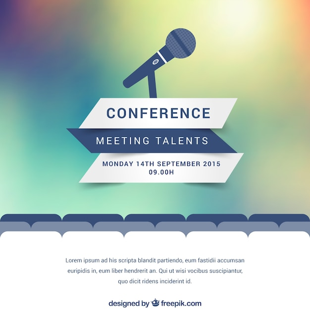 Modern Conference Poster Vector Free Download