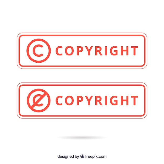 Modern copyright symbol template Free Vector