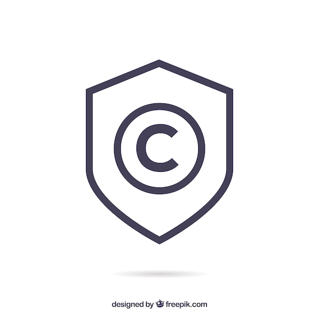 Modern copyright symbol Free Vector