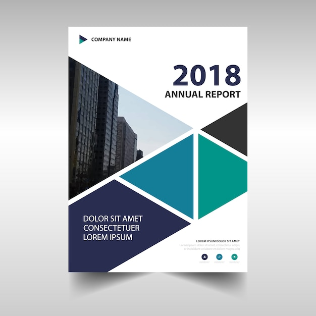 Modern corporate annual report design Free Vector