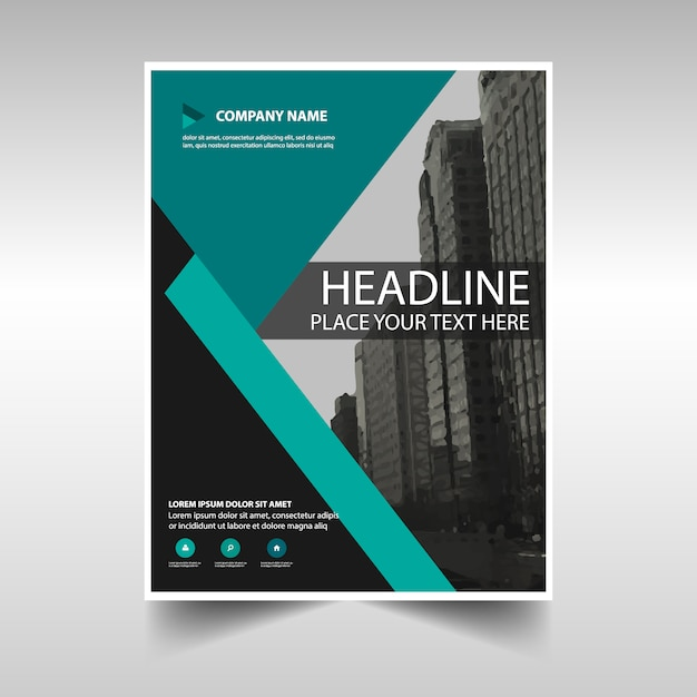 Modern corporate brochure for business