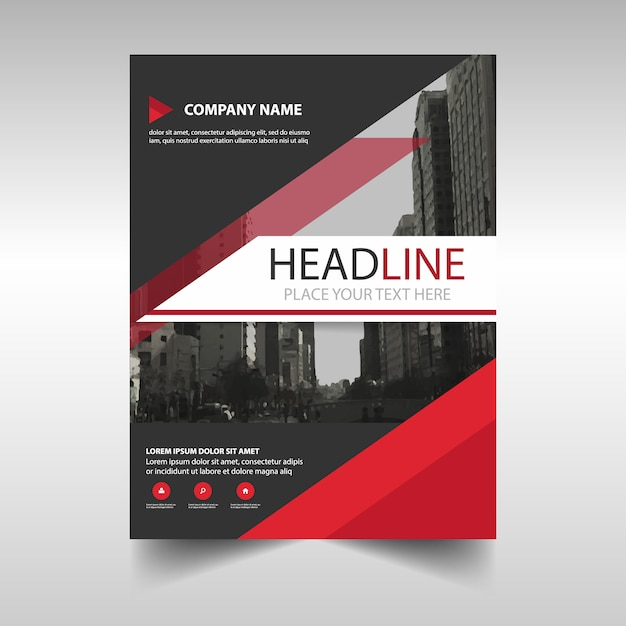Modern corporate brochure, red color