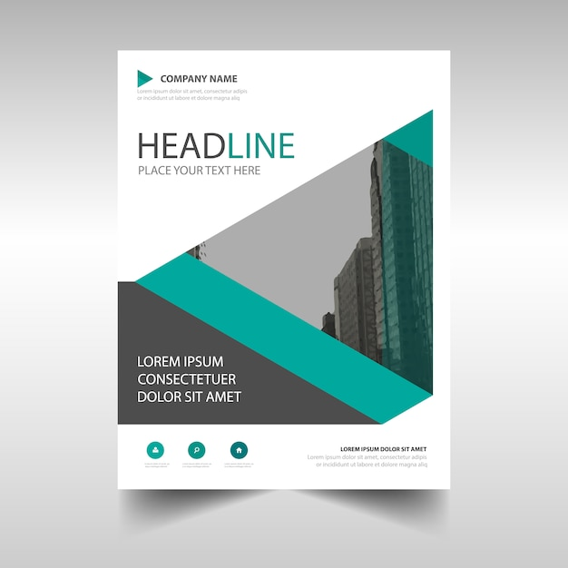 Modern corporate brochure template with geometric shapes