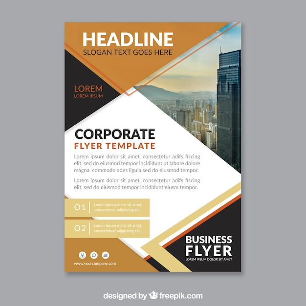 Modern Corporate Brochure Template Vector Free Download