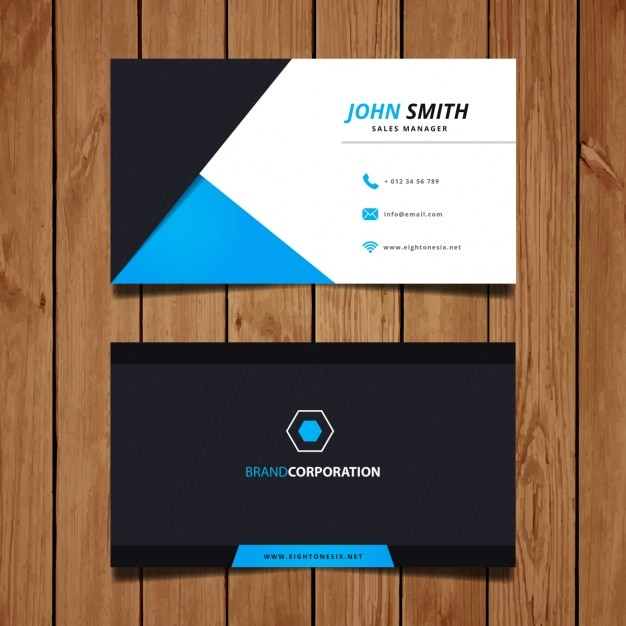 Modern corporate business card design vector free download modern corporate business card design free vector reheart Image collections