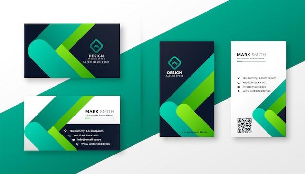 Modern corporate business card template set Free Vector