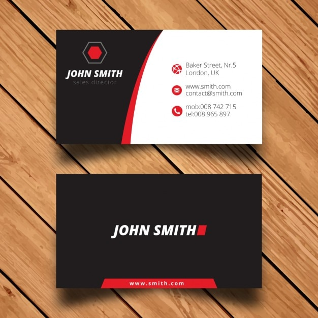 Modern Corporate Business Card Template Vector Free Download - Business card template uk