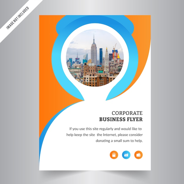 Modern Corporate Flyer Template With Circle Shape Vector | Premium ...