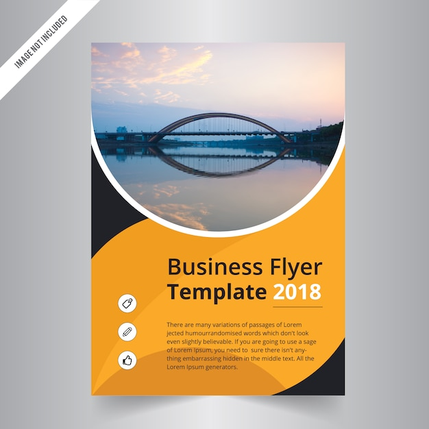 modern corporate flyer template with simple design premium vector