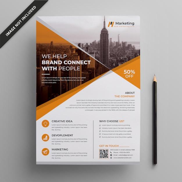 Modern corporate flyer template Premium Vector