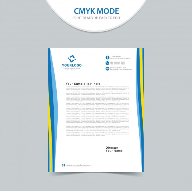 Modern Corporate Letterhead Design Vector  Premium Download