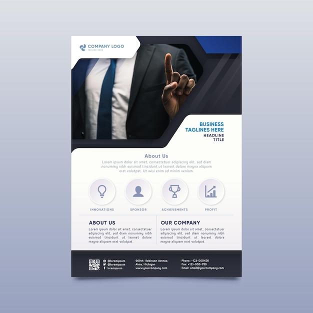 現代の企業印刷テンプレート 無料ベクター
