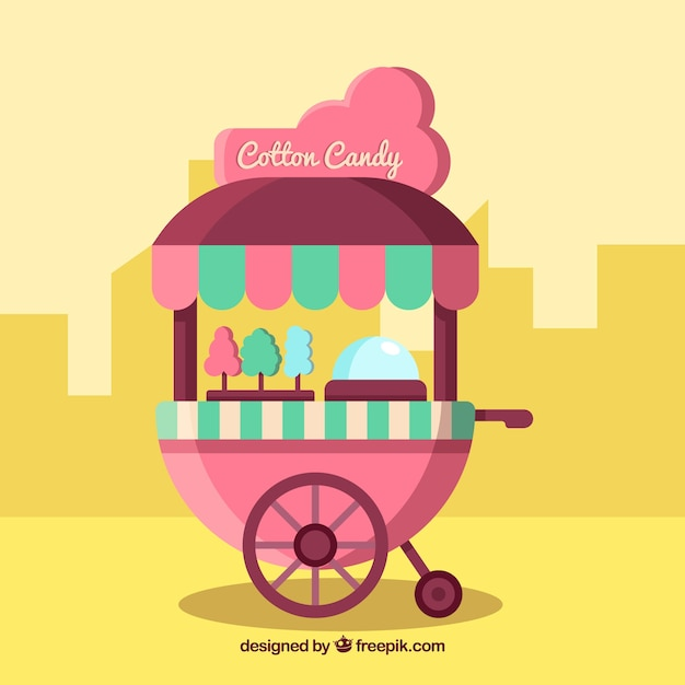 Modern cotton candy cart