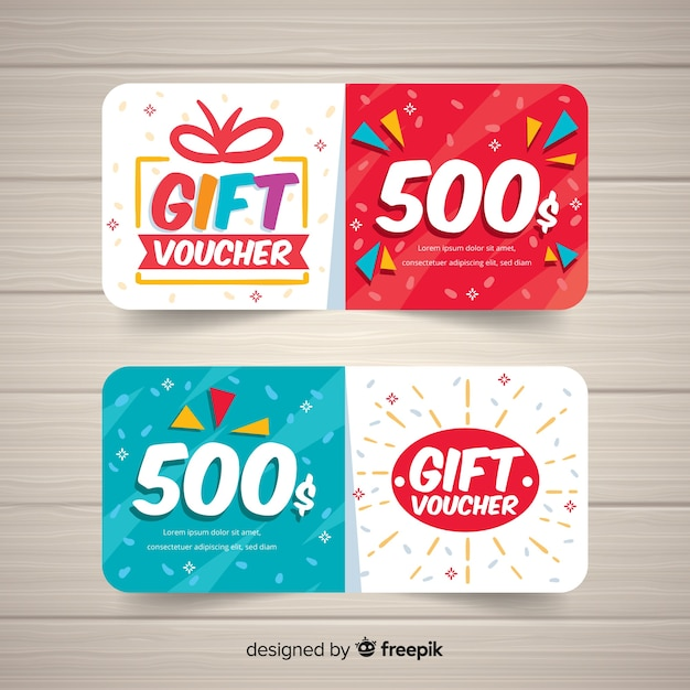 Modern coupon or voucher  template concept Free Vector