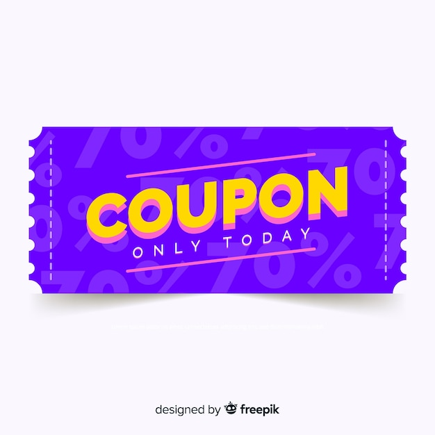 Modern coupon or voucher  template Free Vector