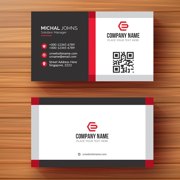 modern creative and clean business card template vector premium