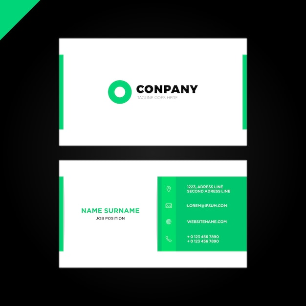 Modern creative and clean business card template vector premium modern creative and clean business card template premium vector reheart Gallery