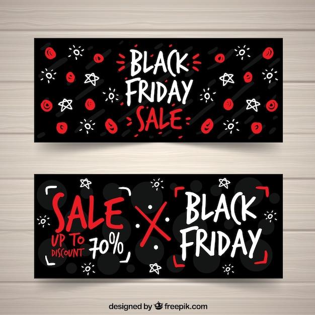 Modern creative black friday banners