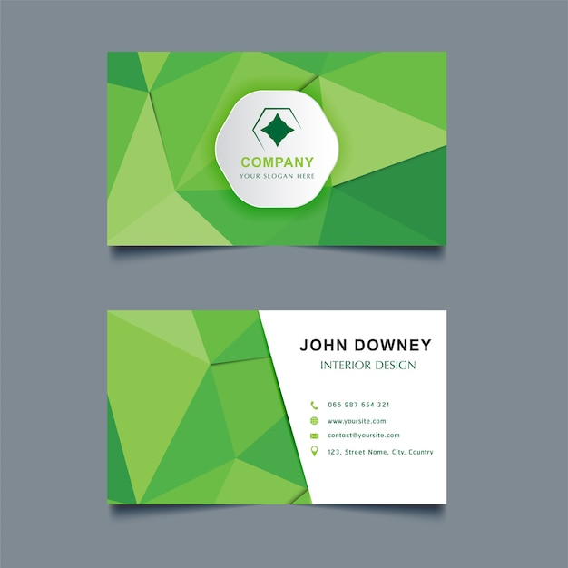 Modern Creative Business Card Template Double Sided Vector Premium