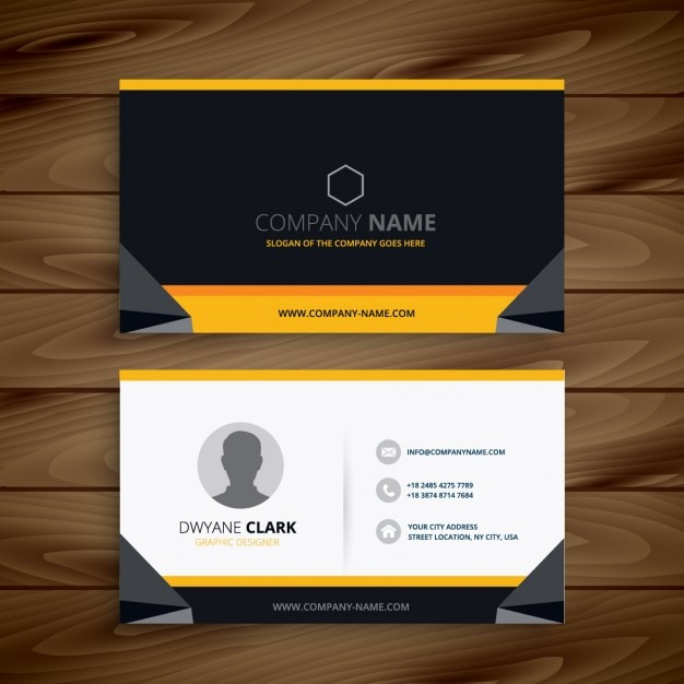 Modern creative business card vector free download modern creative business card free vector reheart Image collections