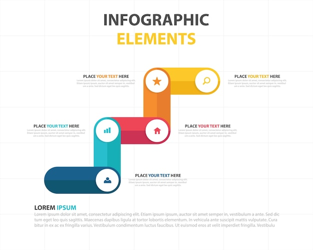 Modern creative business infographic template