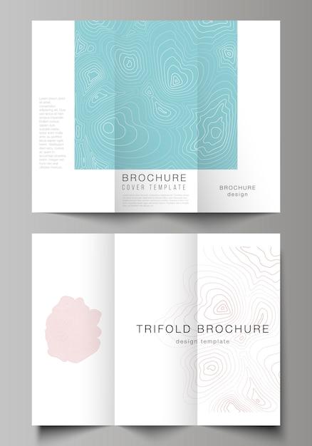 Современные креативные обложки для шаблонов брошюры или флаера. топографическая контурная карта, абстрактный монохромный Premium векторы