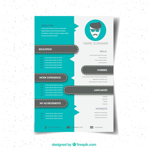 modern creative cv design vector free download
