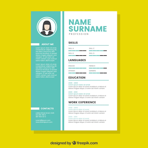 Modern Creative Cv Template Vector Free Download
