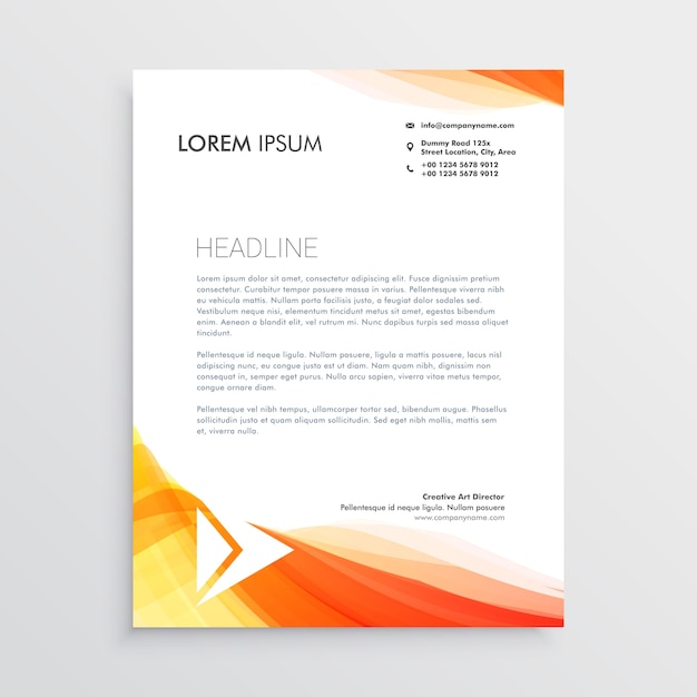A4 template vectors photos and psd files free download modern creative letterhead design template vector spiritdancerdesigns Images