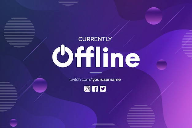 Modern currently offline banner template Free Vector