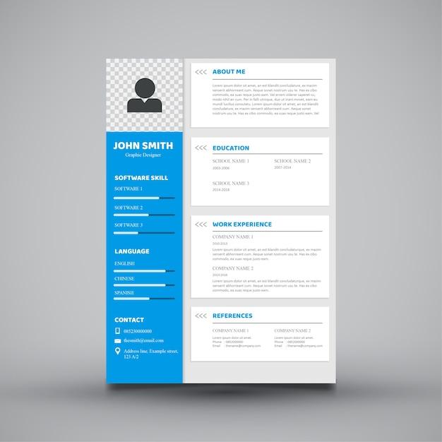 Modern Curriculum Vitae Template Design Vector Premium Download