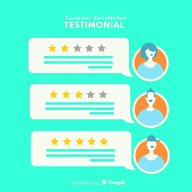 Modern customer satisfaction concept Free Vector