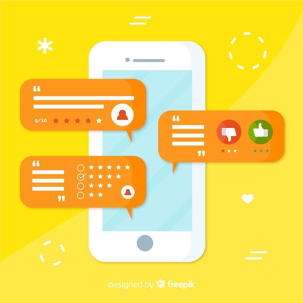 Modern customer satisfaction concept Free Vector