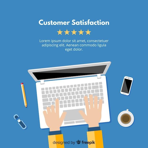 Современный дизайн удовлетворенности клиентов Бесплатные векторы