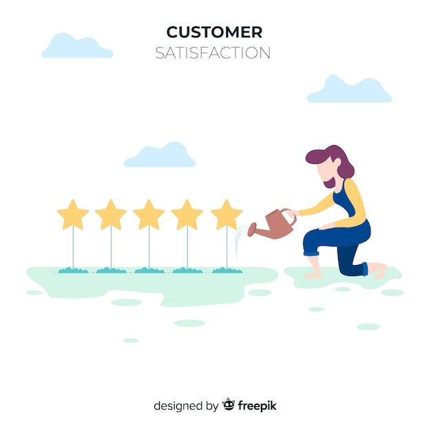 Modern customer satisfaction design Free Vector