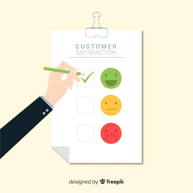 Modern customer satisfaction design Free Vector
