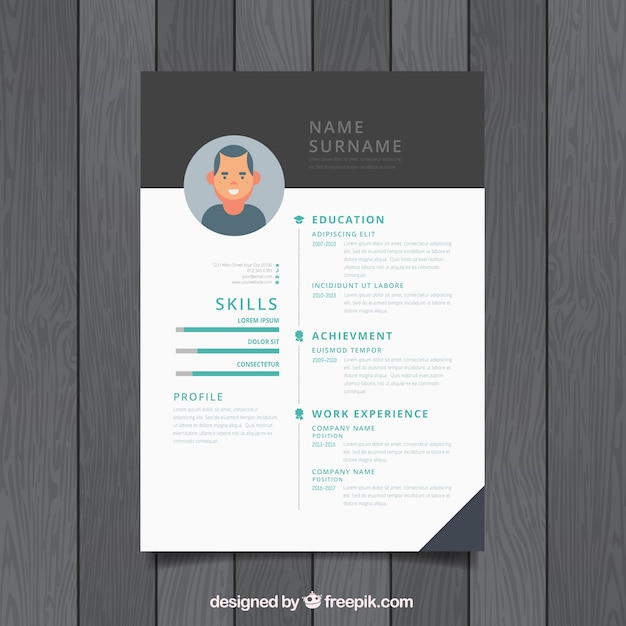 modern cv design vector free download