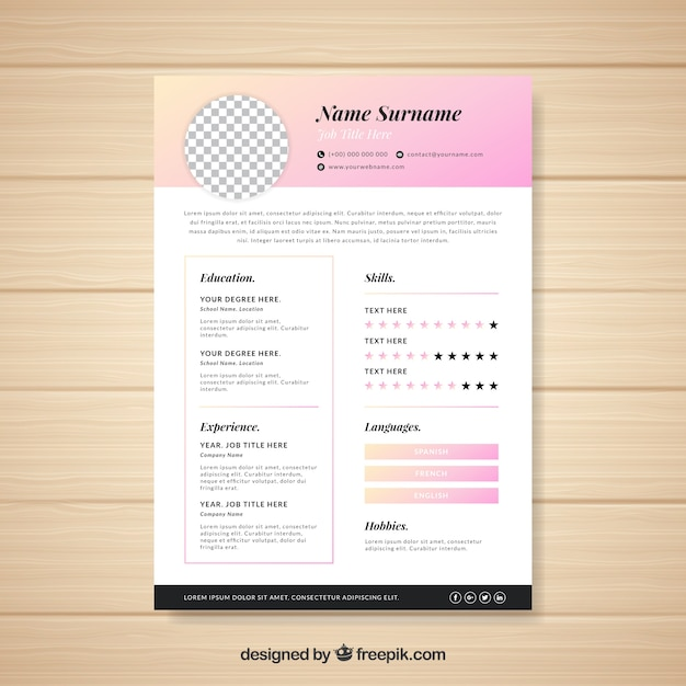 modern cv template with elegant style vector