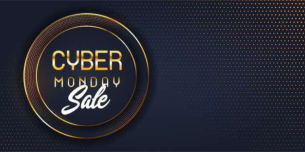 Modern cyber monday sale banner Free Vector