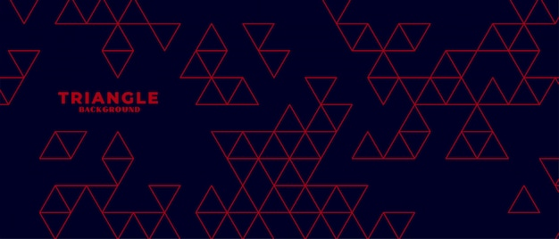 Modern dark background with red triangle pattern Free Vector