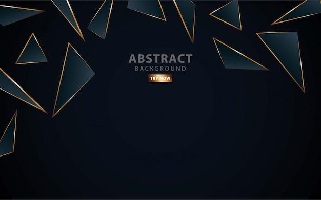Modern dark blue background. realistic light effect. Premium Vector