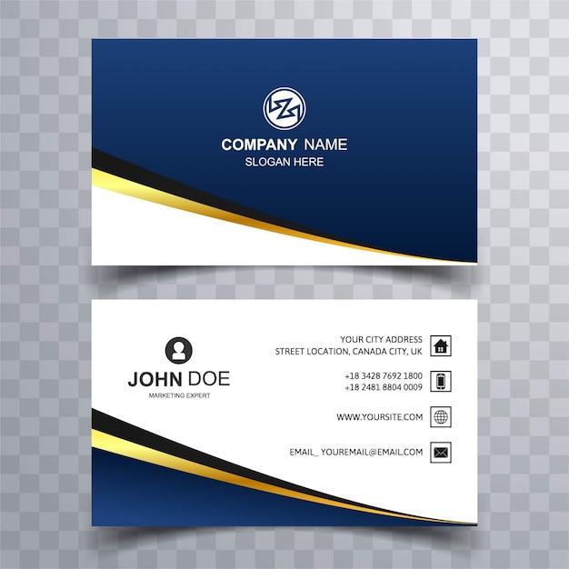 Modern dark blue business card vector free download modern dark blue business card free vector reheart Images