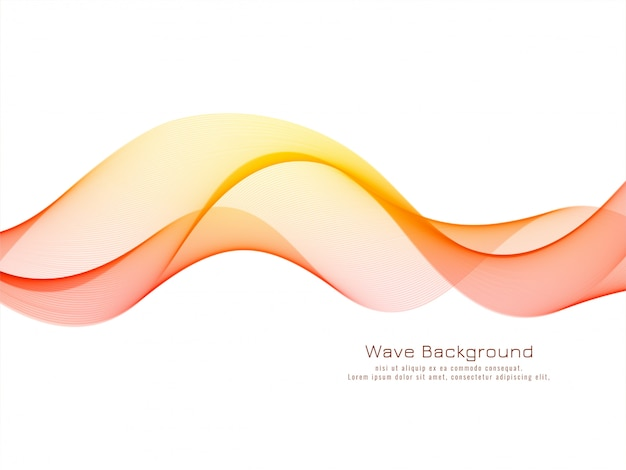 Modern decorative colorful wave background Free Vector