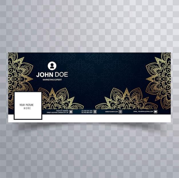 Modern decorative floral facebook banner template Free Vector