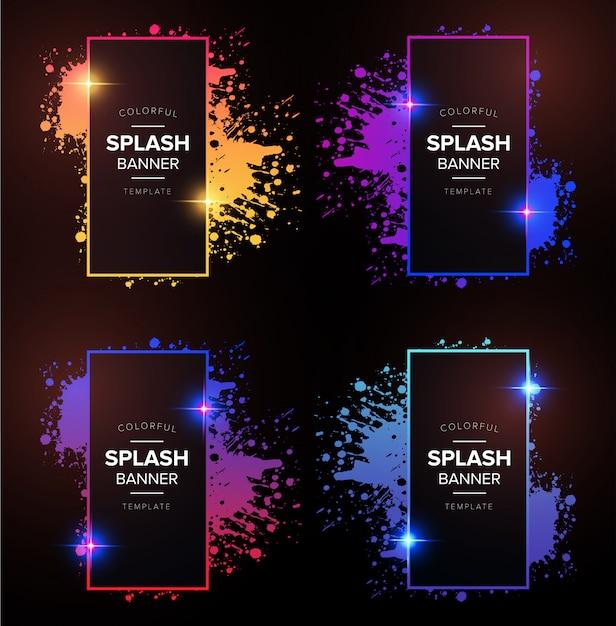 Modern degrade banner with splash Free Vector