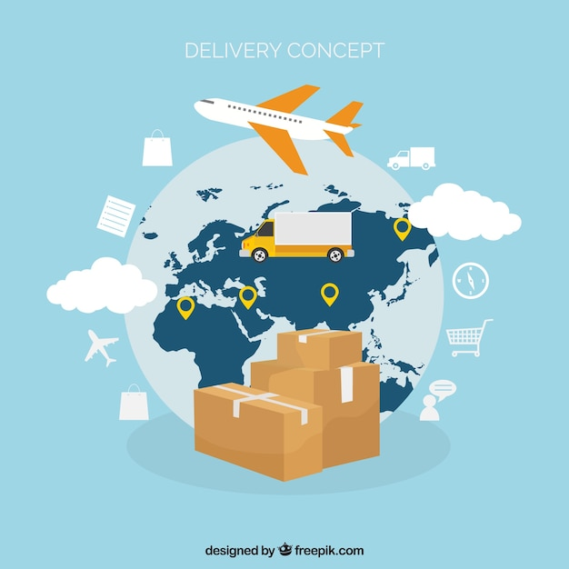 Modern delivery concept with elegant style