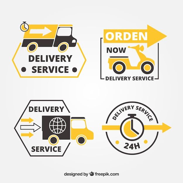Modern delivery labels with elegant style