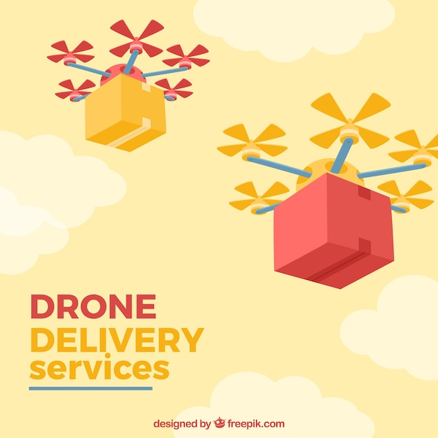 Modern delivery with drones